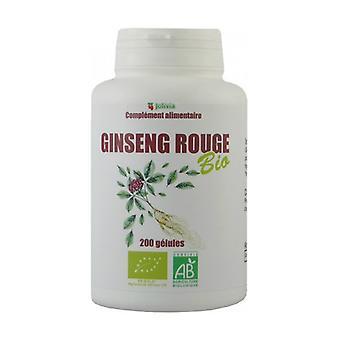 Biologische Rode Ginseng 200 plantaardige capsules van 300mg