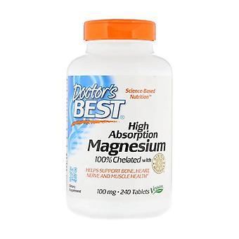 Magnesium met hoge absorptie, 100mg 240 tabletten