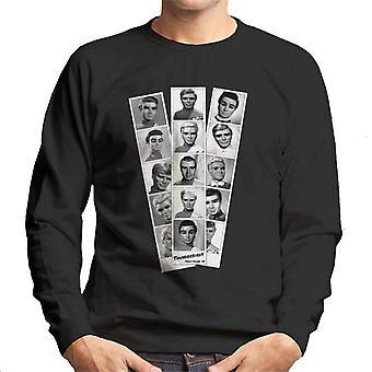 Thunderbirds Black And White Character Passport Design Homme-apos;s Sweatshirt