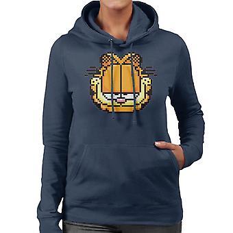 Garfield Pixelated Smug Look Women's Hooded Sweatshirt