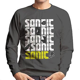 Sonic The Hedgehog Sonic The Hedgehog Pixel Slogan Men's Sweatshirt