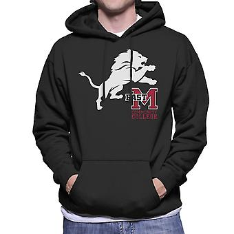 East Mississippi Community College Lion And Logo Men's Hooded Sweatshirt