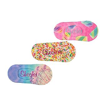 Skechers Printed Liner Socks 3 Pack Girls