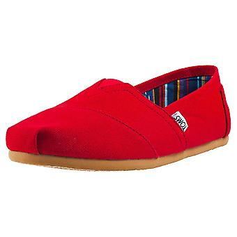 Toms Classic Mens Slip On Shoes in Red