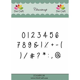 Dixi Craft Numbers Clearstamps