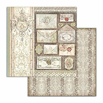 Stamperia Princess Letters 12x12 Inch Paper Sheets (10pcs) (SBB713)