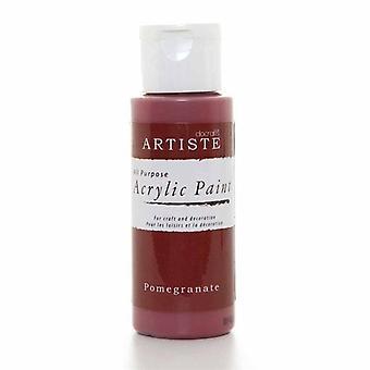 Docrafts Acrylic Paint (2oz) - Pomegranate (DOA 763216)