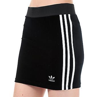 Damen's adidas Originals 3-Streifen Rock in schwarz