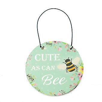 Cute As Can Bee Wooden Hanging Plaque - Cracker Filler Gift