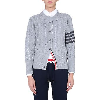 Thom Browne Fkc331a00014055 Women's Grey Wool Cardigan