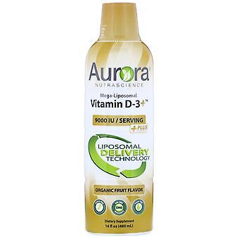 Aurora Nutrascience, Mega-Liposomal Vitamin D3, Organic Fruit Flavor, 9,000 IU,
