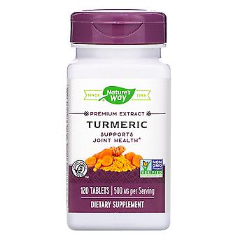 Naturaleza's Way, Cúrcuma, 500 mg, 120 Tabletas