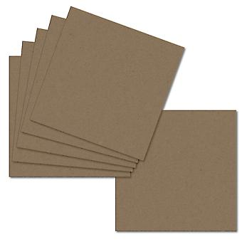 Fleck Manilla. 153mm x 153mm. 6 Inch Square. 280gsm Card Sheet.