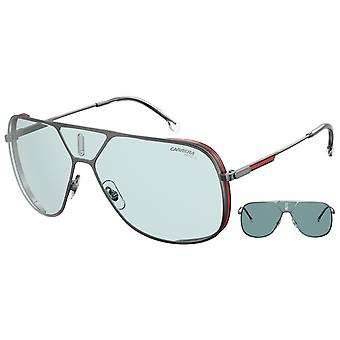Sunglasses Unisex Lens3s silver grey with blue glasses