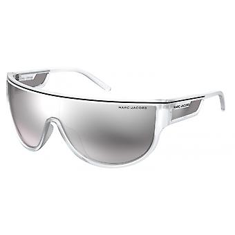 Women's sunglasses with a full silver-grey border