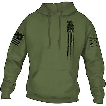 Grunt Style Beast Flag Pullover Hoodie - Military Green