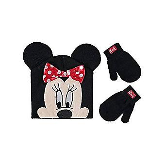 Beanie Cap - Disney - Minnie Mouse - Polka Dot Bow Mittens Set