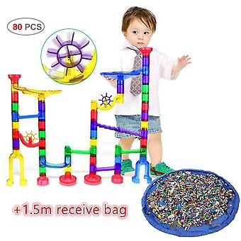 122 Pcs Marble Run Jeu de marbre jouet Stem Learning, Construction éducative