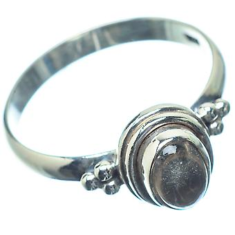 Smoky Quartz Ring Size 8.25 (925 Sterling Silver)  - Handmade Boho Vintage Jewelry RING26777
