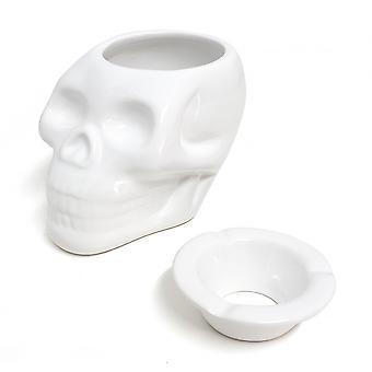 asbak Skully 10 x 13,5 cm keramiek wit
