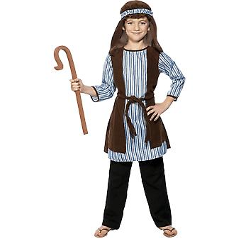 Kids Age 4 - 9 Years Shepherd Christmas Nativity Fancy Dress Costume