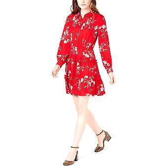 Maison Jules | Printed Ruffled Shirtdress Red Ladybug