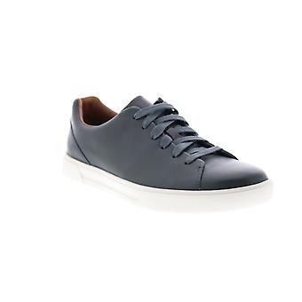 Clarks Un Costa Lace  Mens Blue Wide Leather Lifestyle Sneakers Shoes