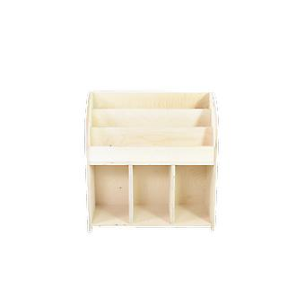 Holzbuchhalter 64x29x67 cm ungeschminkt