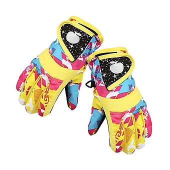 Waterproof Winter Skiing Snowboarding Gloves Warm Mittens For Kids