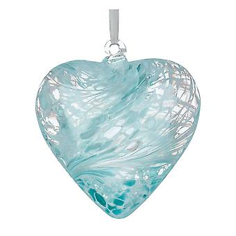 8cm Friendship Heart - Pastel Blue - Unique Gift and Hanging Decoration