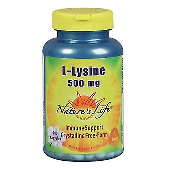 Nature's Life L-Lysine, 500 mg, 100 caps