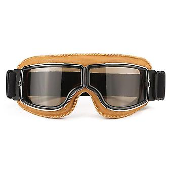 Motorcycle Flying Scooter ATV Goggles Helmet Glasses Goggles Yellow Frame Goggle