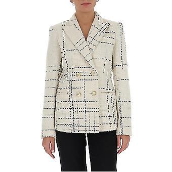 Amen Couture Acw20101361 Women's White/black Wool Blazer