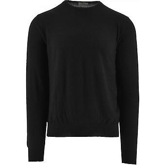 C Collection Corneliani Black Cashmere Sweater
