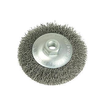 Lessmann Conical Bevel Brush 100mm M14 Bore 0.35 Steel Wire LES422177