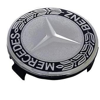 Silver/Black Mercedes Benz Wheel Center Cap Hub Badge 75mm 1 PCS For A B C E S G CLASS CLA CLS SLK ML AMG