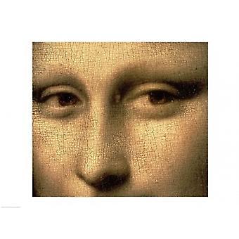 Mona Lisa ansikte detalj affisch Skriv av Leonardo Da Vinci