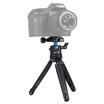 [UAE-aktier] PULUZ Pocket Mini Metal Desktop Tripod Mount med 360 graders kuglehoved til DSLR og Digitale kameraer, justerbar højde: 11-21cm