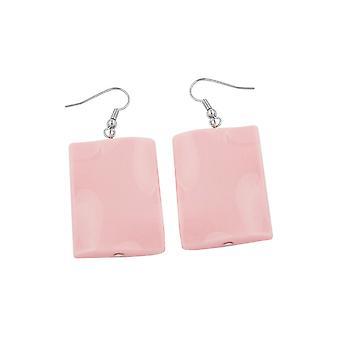 Koukku korvakorut tyyny helmi vaaleanpunainen