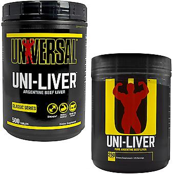 Universal Nutrition Uni-Liver, 250 or 500 tablets - Pure Argentine Beef Liver