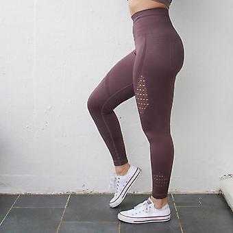 Kvinnor Energi Seamless Tummy Control Yoga Byxor Super Stretchy Gym Tights Hög