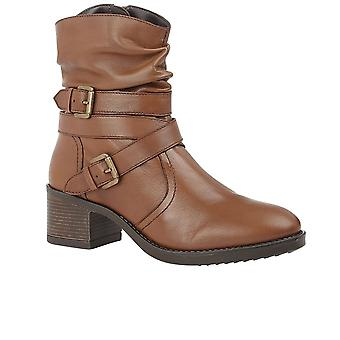 Lotus Iowa Womens Slouched Ankle Boots