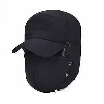 Winter Thermische Bomber Hoeden Oorbescherming Gezicht Warmer Windproof Cap