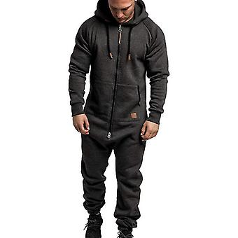 Men One-piece Garment Pajama, Zipper Hoodie Camouflage Print, Jumpsuit,