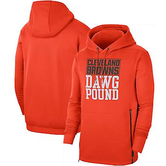 Cleveland Browns Men & apos; s Sideline Lokal Performance Pullover Hoodie Top WYX066