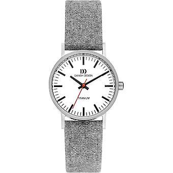 Dänisches Design Rhein Vegan Uhr - hellgrau/weiß