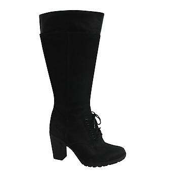 Timberland Earthkeepers EK Glancy Tall Black Nubuck Womens Boots A11SI B7E