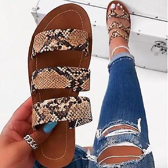Summer Slides Outdoor Beach Flat Heel Sewing Ladies Shoes