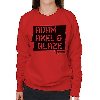 Sega Streets Of Rage Adam Axel And Blaze Women's Sweatshirt