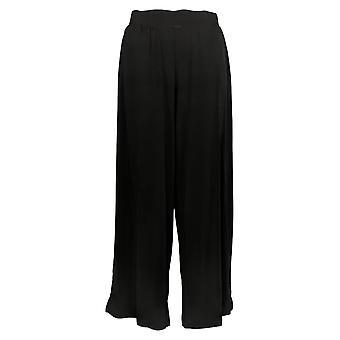G.I.L.I. Got It Love It Women's Petite Pants Jetsetter Slit Black A353516